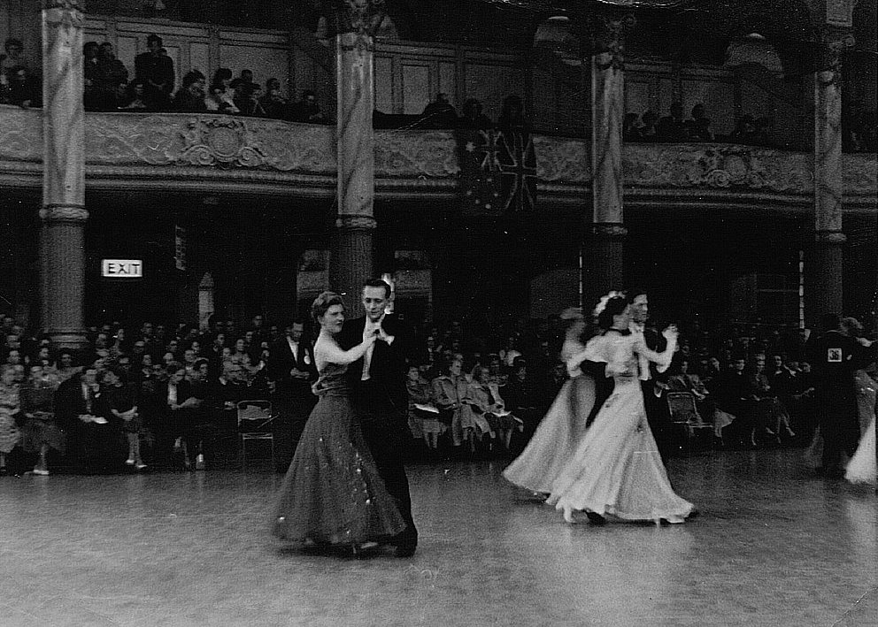 Pearl Hood & Stanely Wood competing at the 1949 North England Dance Championship