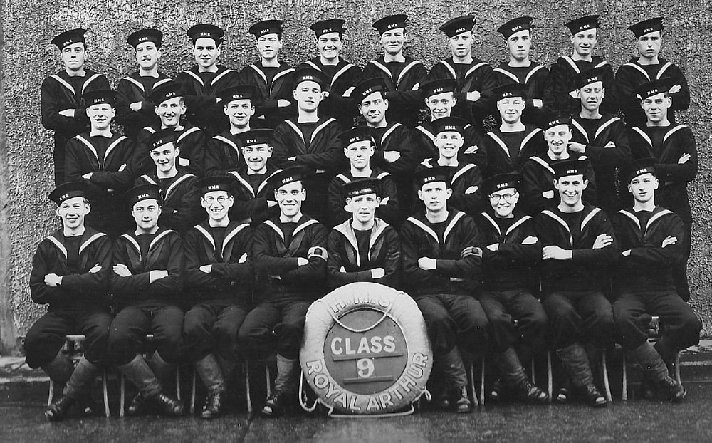 December 1942. HMS Royal Arthur, Skegness. Stan is in 2nd row from back, 4th from right
