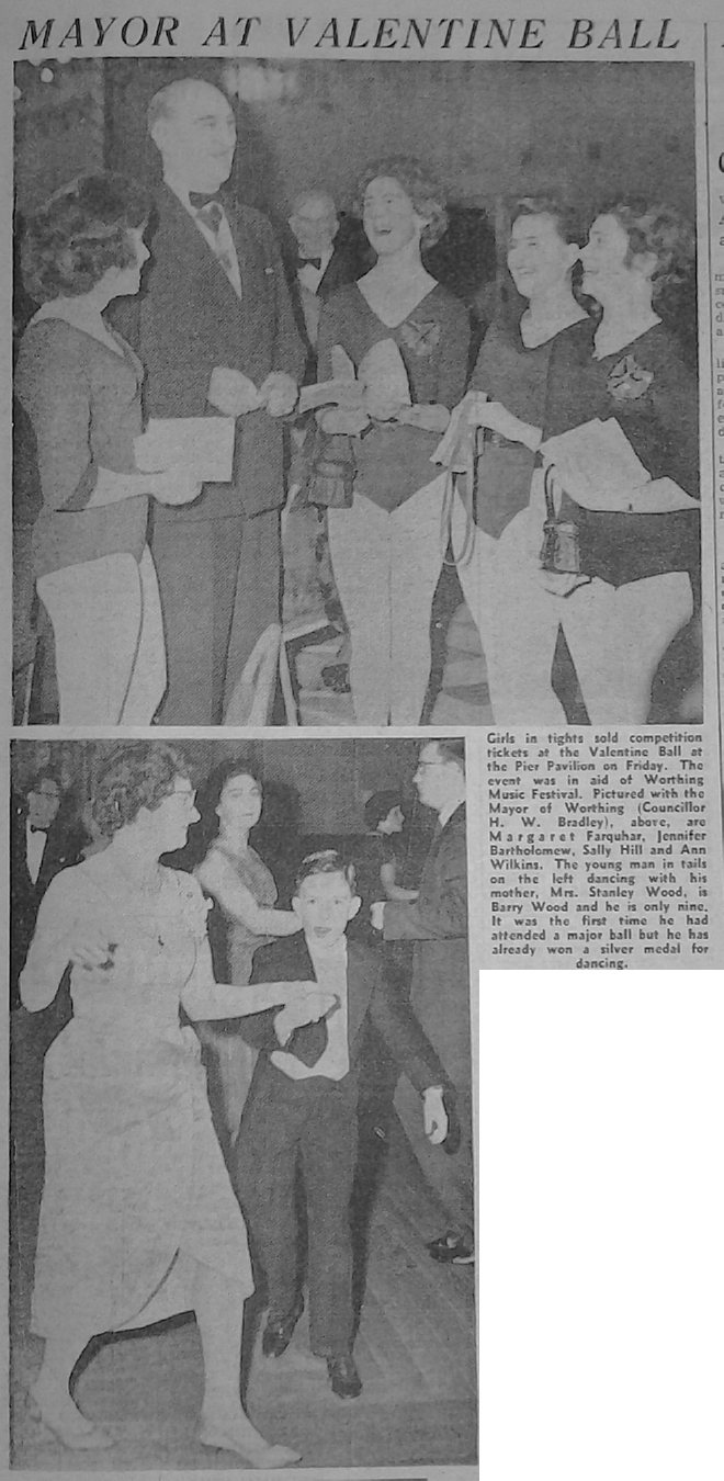Pearl Hood dancing at 1960 Valentine Ball